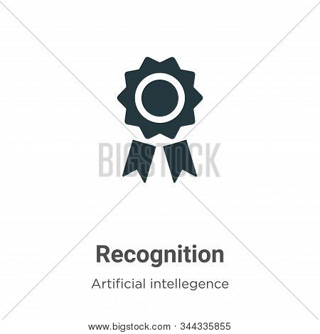Recognition icon isolated on white background from artificial intelligence collection. Recognition i