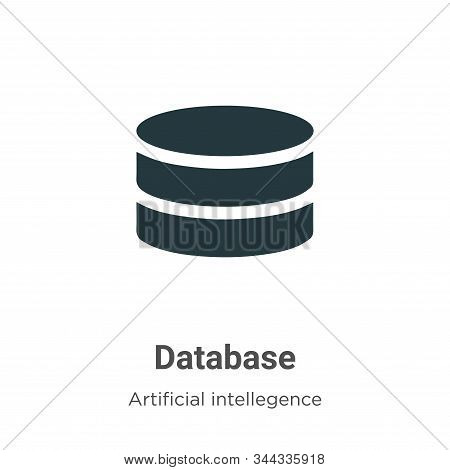 Database icon isolated on white background from artificial intelligence collection. Database icon tr
