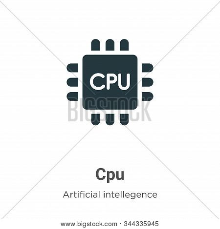 Cpu icon isolated on white background from artificial intelligence collection. Cpu icon trendy and m