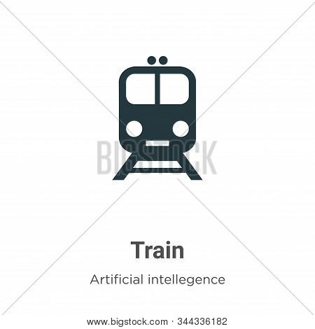 Train icon isolated on white background from artificial intelligence collection. Train icon trendy a