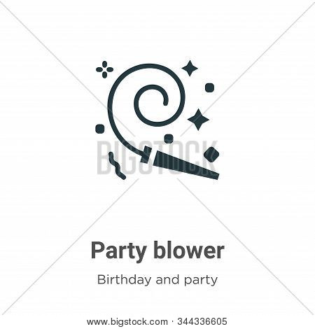 Party blower icon isolated on white background from birthday and party collection. Party blower icon