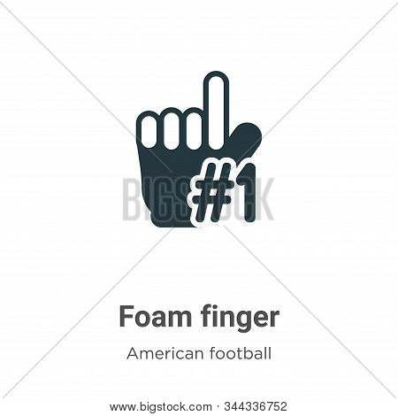 Foam finger icon isolated on white background from american football collection. Foam finger icon tr