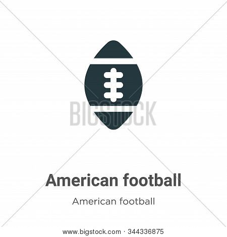 American Football Vector Icon On White Background. Flat Vector American Football Icon Symbol Sign Fr