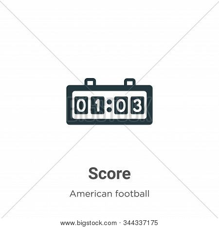 Score icon isolated on white background from american football collection. Score icon trendy and mod
