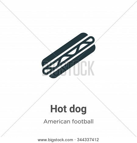 Hot dog icon isolated on white background from american football collection. Hot dog icon trendy and