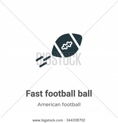 Fast Football Ball Vector Icon On White Background. Flat Vector Fast Football Ball Icon Symbol Sign