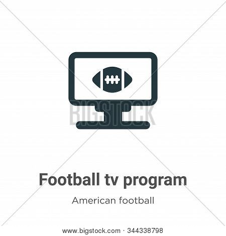 Football tv program icon isolated on white background from american football collection. Football tv