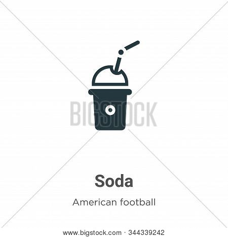 Soda icon isolated on white background from american football collection. Soda icon trendy and moder