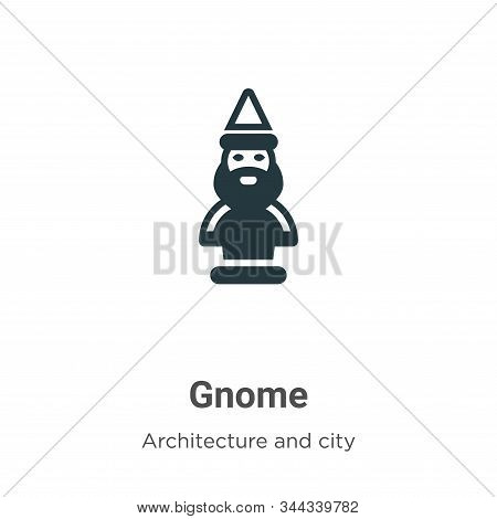 Gnome icon isolated on white background from farming and gardening collection. Gnome icon trendy and