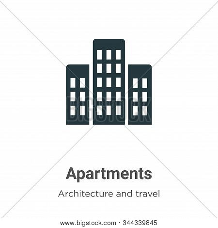 Apartments icon isolated on white background from architecture and travel collection. Apartments ico