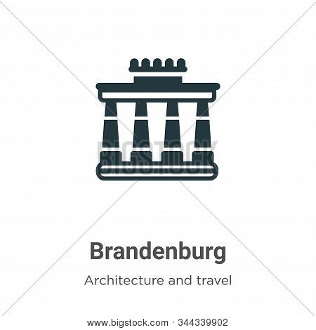 Brandenburg icon isolated on white background from architecture and travel collection. Brandenburg i