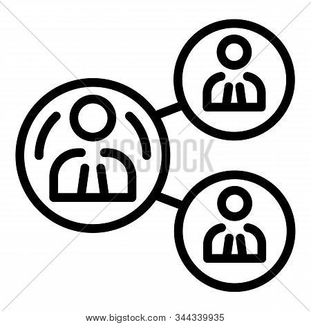 Human Resource Icon. Outline Human Resource Vector Icon For Web Design Isolated On White Background