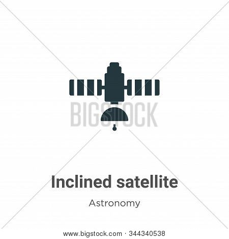 Inclined satellite icon isolated on white background from astronomy collection. Inclined satellite i