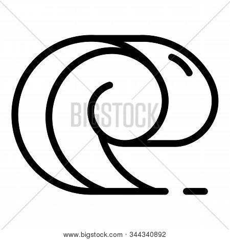 Big Tsunami Icon. Outline Big Tsunami Vector Icon For Web Design Isolated On White Background