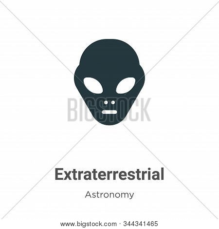 Extraterrestrial icon isolated on white background from astronomy collection. Extraterrestrial icon