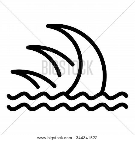 Sea Tsunami Icon. Outline Sea Tsunami Vector Icon For Web Design Isolated On White Background