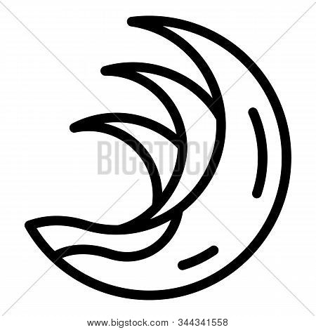 Ocean Tsunami Icon. Outline Ocean Tsunami Vector Icon For Web Design Isolated On White Background