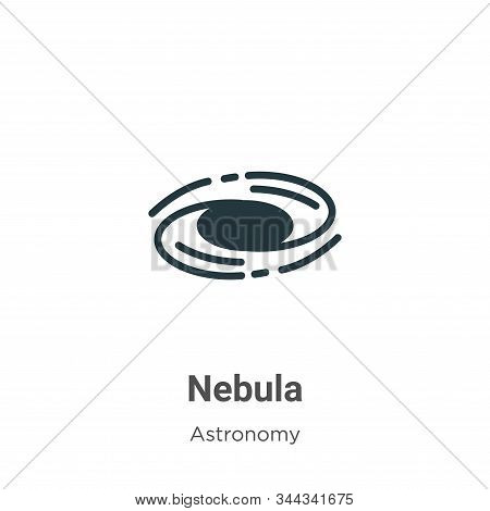 Nebula Vector Icon On White Background. Flat Vector Nebula Icon Symbol Sign From Modern Astronomy Co