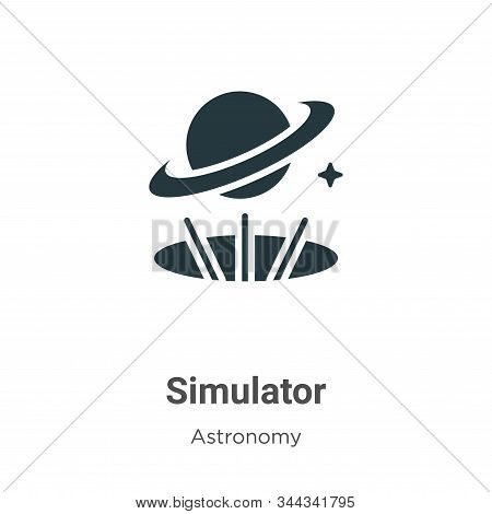 Simulator icon isolated on white background from astronomy collection. Simulator icon trendy and mod