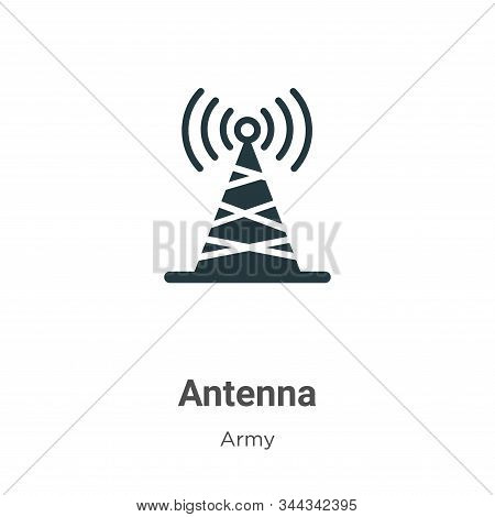 Antenna icon isolated on white background from army collection. Antenna icon trendy and modern Anten