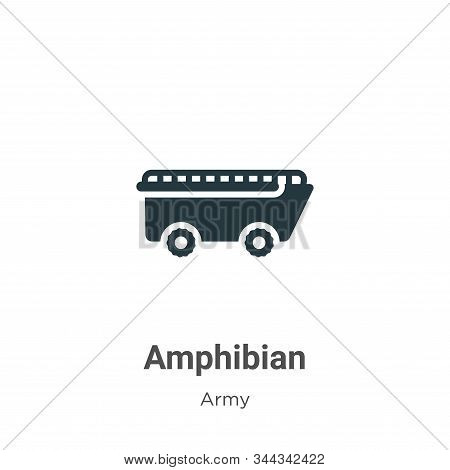 Amphibian Vector Icon On White Background. Flat Vector Amphibian Icon Symbol Sign From Modern Army C