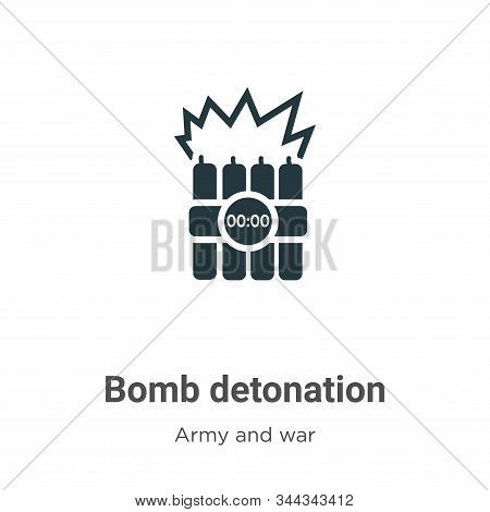 Bomb detonation icon isolated on white background from army and war collection. Bomb detonation icon