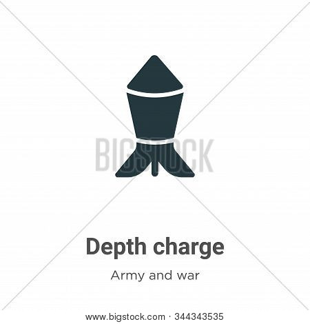 Depth charge icon isolated on white background from army and war collection. Depth charge icon trend