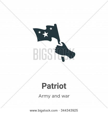 Patriot icon isolated on white background from army and war collection. Patriot icon trendy and mode