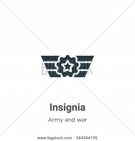 Insignia icon isolated on white background from army and war collection. Insignia icon trendy and mo