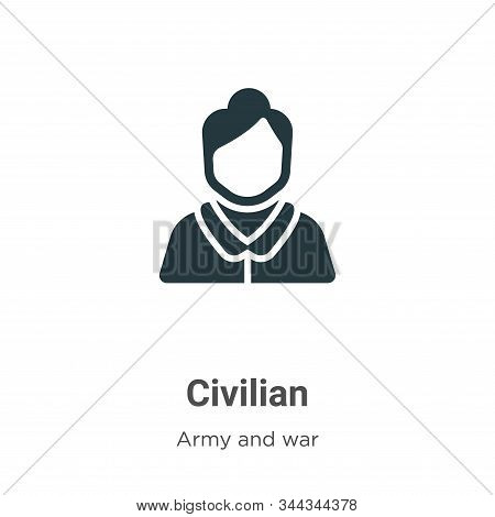 Civilian icon isolated on white background from army and war collection. Civilian icon trendy and mo