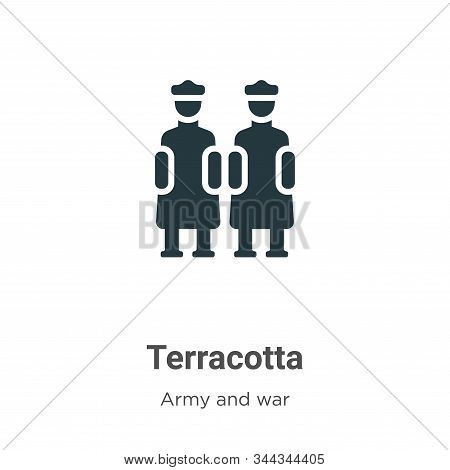 Terracotta Vector Icon On White Background. Flat Vector Terracotta Icon Symbol Sign From Modern Army