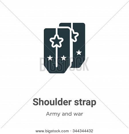 Shoulder strap icon isolated on white background from army and war collection. Shoulder strap icon t