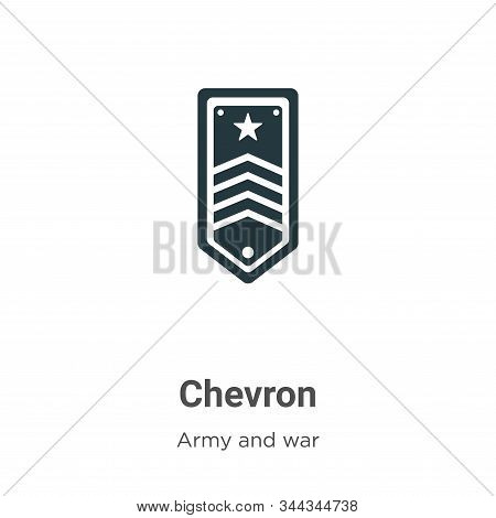 Chevron icon isolated on white background from army collection. Chevron icon trendy and modern Chevr