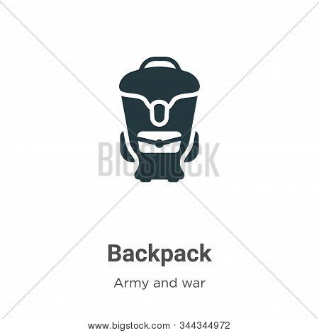 Backpack icon isolated on white background from army collection. Backpack icon trendy and modern Bac