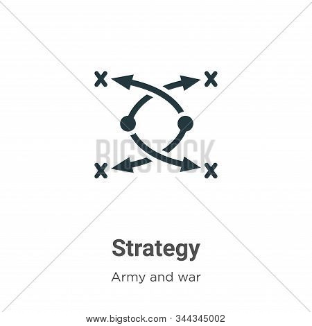 Strategy icon isolated on white background from army collection. Strategy icon trendy and modern Str