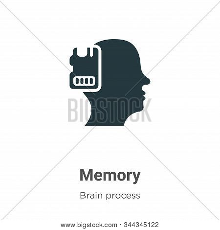 Memory Vector Icon On White Background. Flat Vector Memory Icon Symbol Sign From Modern Brain Proces