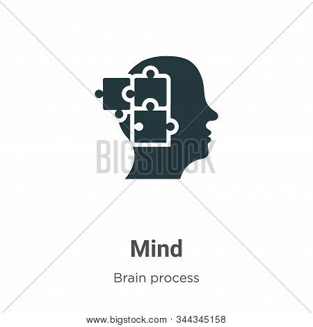 Mind icon isolated on white background from brain process collection. Mind icon trendy and modern Mi