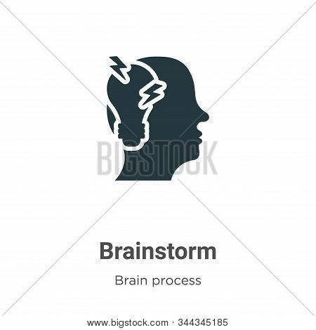 Brainstorm icon isolated on white background from brain process collection. Brainstorm icon trendy a