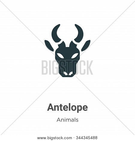 Antelope icon isolated on white background from animals collection. Antelope icon trendy and modern