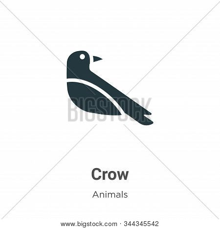 Crow icon isolated on white background from animals collection. Crow icon trendy and modern Crow sym