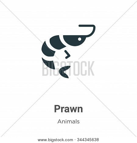 Prawn icon isolated on white background from animals collection. Prawn icon trendy and modern Prawn