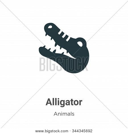 Alligator icon isolated on white background from animals collection. Alligator icon trendy and moder