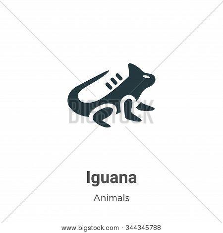 Iguana icon isolated on white background from animals collection. Iguana icon trendy and modern Igua