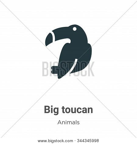 Big toucan icon isolated on white background from animals collection. Big toucan icon trendy and mod