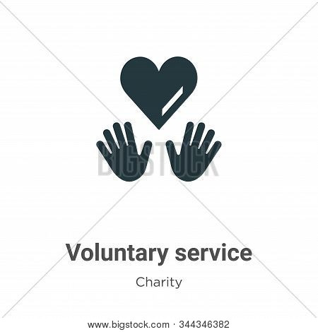 Voluntary service icon isolated on white background from charity collection. Voluntary service icon
