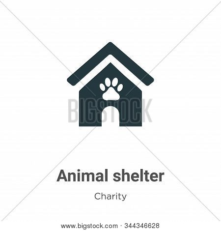 Animal Shelter Vector Icon On White Background. Flat Vector Animal Shelter Icon Symbol Sign From Mod