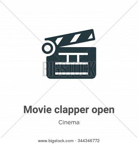 Movie clapper open icon isolated on white background from cinema collection. Movie clapper open icon