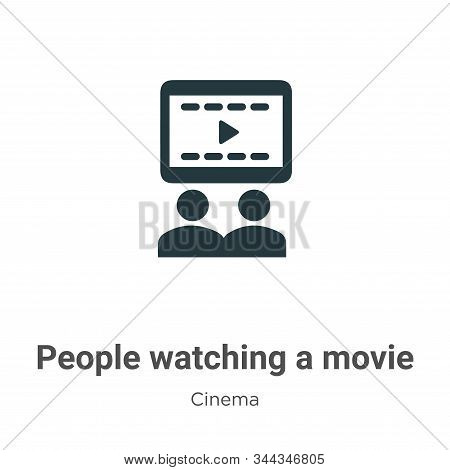 People watching a movie icon isolated on white background from cinema collection. People watching a