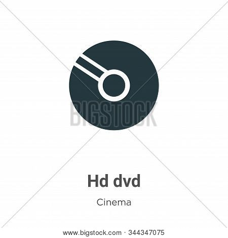Hd Dvd Vector Icon On White Background. Flat Vector Hd Dvd Icon Symbol Sign From Modern Cinema Colle