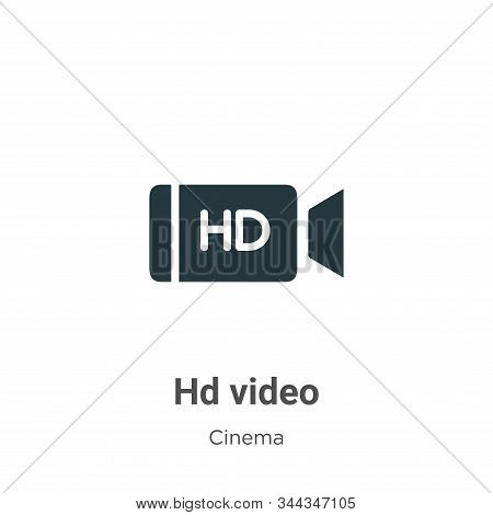 Hd Video Vector Icon On White Background. Flat Vector Hd Video Icon Symbol Sign From Modern Cinema C